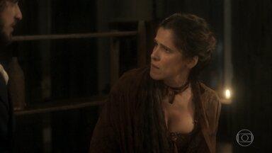 Elvira prepara jantar especial para Joaquim - Joaquim estranha ao ouvir a mulher falar sobre Domitila e pergunta sobre Thomas. Elvira se desespera e o deixa sozinho à mesa