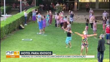 Tribunal de Contas questiona GDF sobre contratação de hotel para idosos - Cerca de 300 idosos estão hospedados em hotel à beira do Lago Paranoá.