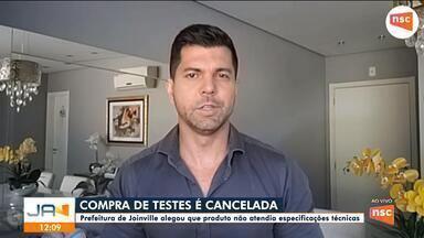 Prefeitura de Joinville cancela compra de testes rápidos para Covid-19 - Prefeitura de Joinville cancela compra de testes rápidos para Covid-19