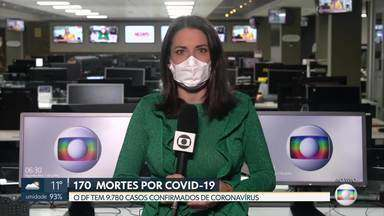 DF tem 170 mortes por covid-19 - O DF tem 9.780 casos confirmados de coronavírus.