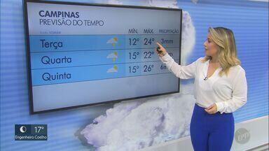 Frente fria se aproxima da região de Campinas; veja previsão desta terça-feira (2) - Em Americana (SP), mínima é de 13ºC e máxima de 25ºC.