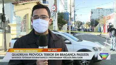 Quadrilha tenta roubar banco em Bragança Paulista - Criminosos fugiram sem levar nada.