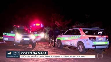 Corpo é encontrado esquartejado dentro de uma mala no Itapoã - Três suspeitos foram presos. Polícia Civil investiga homicídio.