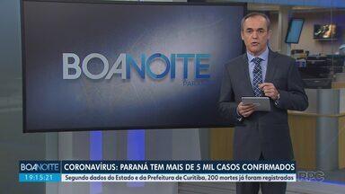 Paraná tem mais de 5 mil casos confirmados de coronavírus - Segundo dados do Estado e da Prefeitura de Curitiba, 200 mortes já foram registradas.
