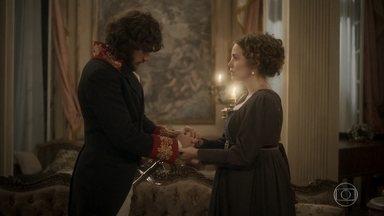Leopoldina chora nos braços de Joaquim - A princesa diz que está com medo do que está por vir