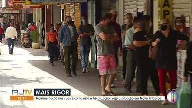 Confira a movimentação nas ruas de Nova Friburgo, no RJ - Município receberá reforço na fiscalização das ruas.