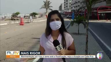 Confira a movimentação nas ruas de Cabo Frio, no RJ - Município receberá reforço na fiscalização das ruas.