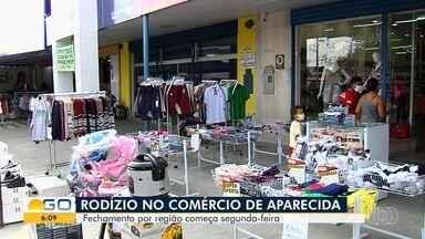 Aparecida de Goiânia passa a ter escalonamento - A partir de segunda-feira, entra em vigor nova forma de funcionamento do comércio.