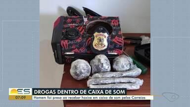 Polícia Federal apreende 1 kg de haxixe em Vitória - Homem foi preso ao receber a droga em caixa de som enviada pelos Correios