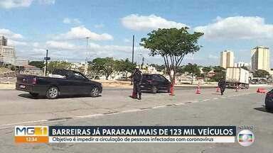 Barreiras já pararam mais de 123 mil veículos - Objetivo é impedir a circulação de pessoas infectadas com coronavírus.