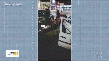 Criminoso é rendido por populares após tentativa de latrocínio, em Cachoeira Dourada - Vítima reagiu.