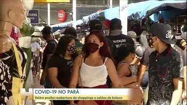 Prefeitura de Belém proíbe reabertura de shoppings e salões de beleza - Centro da cidade tem alta circulação de pessoas.