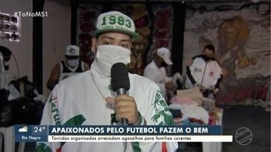 Sem jogos para torcer, organizadas de São Paulo, Palmeiras e Vasco organizam campanhas de - Doações serão entregues para famílias carentes de Campo Grande
