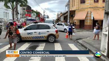 Taxa de isolamento social de Aracaju está em 40% - Taxa de isolamento social de Aracaju está em 40%.