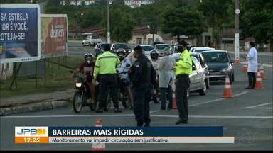 Coronavírus: Paraíba ultrapassa 16 mil casos e barreiras são intensificadas - Barreiras na Região Metropolitana de João Pessoa pode punir população que não cumpre o decreto de isolamento.