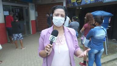Voluntários instalam ponto de higienização no Terminal Urbano de Rio Branco - Voluntários instalam ponto de higienização no Terminal Urbano de Rio Branco