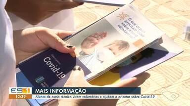 Alunos vão às ruas de Cachoeiro para orientar a população sobre riscos da Covid-19 - Assista ao vídeo!
