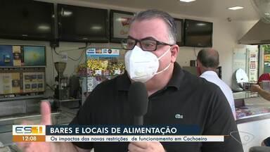 Mudança de decreto para Bares e restaurantes de Cachoeiro gera muitas dúvidas - Assista ao vídeo!