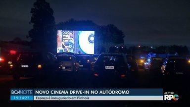 Cinema drive-in no Autódromo - Espaço é inaugurado em Pinhais.