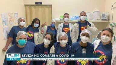 Hospital de Resende faz ações para motivar profissionais e humanizar atendimentos - Ideia é proporcionar um momento de leveza durante o combate ao coronavírus.