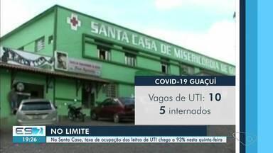 Na Santa Casa, de Cachoeiro, ES, taxa de ocupação dos leitos de UTI chega a 93% - Confira na reportagem.