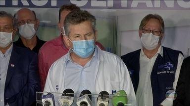 Governador do MT, Mauro Mendes (DEM), é diagnosticado com a Covid-19 - Ele disse que não sente nenhum sintoma e que vai continuar trabalhando de casa.