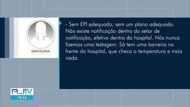 Profissionais de saúde de hospitais de Campos denunciam falta de cuidado - Ao todo, 203 profissionais foram infectados pelo novo coronavírus.