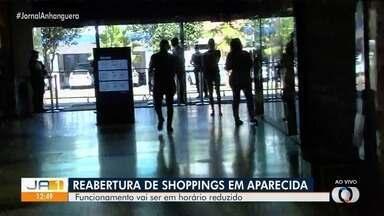 Shopping de Aparecida de Goiânia adota medidas de segurança após reabertura - Prefeitura de Aparecida de Goiânia autorizou a reabertura de shoppings da cidade.