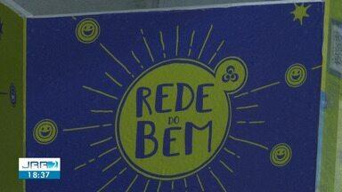 Campanha 'Rede do bem' arrecada alimentos não perecíveis para famílias de Boa Vista - As doações podem ser deixadas em uma das caixas identificadas no supermercado Goiana.