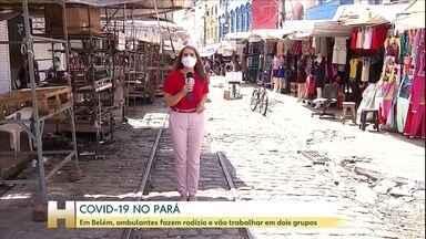 Em Belém, ambulantes fazem rodízio durante a pandemia - Em Belém, ambulantes fazem rodízio durante a pandemia