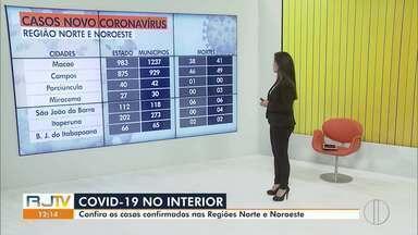 Veja o avanço da Covid-19 no Norte e Noroeste do Rio - RJ1 traz dados atualizados da área de cobertura.