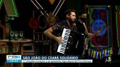 São João do Ceará Solidário transmite atrações cearenses neste sábado (06) - Saiba mais em g1.com.br/ce