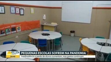 95% das escolas particulares perderam alunos por conta da pandemia - Segundo pesquisa, inadimplência chega a 21%.