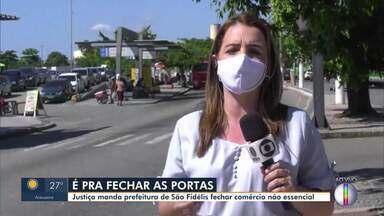 Justiça manda prefeitura de São Fidélis, RJ, fechar o comércio não essencial - Município já tem mais de 100 casos confirmados de Covid-19 e 4 mortes.