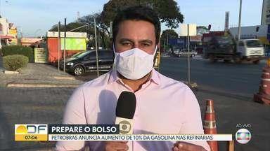 Gasolina vai ficar mais cara de novo - Petrobras anuncia aumento de 10% da gasolina nas refinarias. O reajuste é o primeiro anunciado em junho e vem depois de quatro aumentos aplicados em maio.