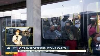 O transporte público na capital - O movimento nas linhas que abastecem a capital e a região metropolitana.