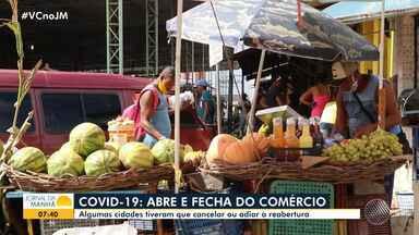 Prefeituras de cidades baianas adiam ou cancelam reabertura do comércio - Medida foi tomada para evitar o avanço da Covid-19 nos municípios.