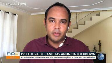 Prefeito de Candeias decreta lockdown na cidade por causa da pandemia do novo coronavírus - As atividades não essenciais vão ser interrompidas e ruas vão ser fechadas.
