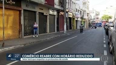 Comércio de rua reabre nesta quarta-feira (10) na capital - Lojas poderão funcionar 4 horas por dia e com normas de higiene.