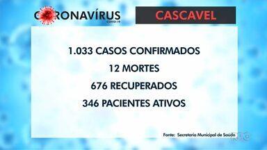 1.033 casos de coronavírus registrados em Cascavel - A cidade é a primeira do interior a ultrapassar a marca de mil casos.