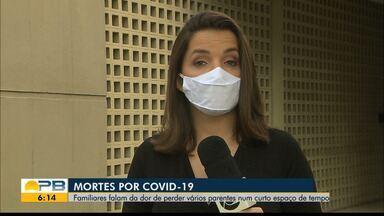 Mortes por Covid-19; familiares falam da dor de perder vários parentes - Confira os detalhes na reportagem de Larissa Pereira.
