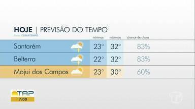 Confira a previsão do tempo para Santarém e região - Saiba qual a probabilidade de chover na sua cidade.