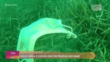 """Estudo publicado na revista Science diz que plástico foi encontrado também no ar - Além desse estudo sobre poluição, uma organização francesa denunciou o que tem chamado de """"nova poluição"""": o descarte irregular de EPIs (equipamento de proteção individual) nos mares."""