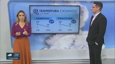 Previsão do tempo mostra temperatura máxima de 30°C em Campinas nesta sexta-feira - Massa de ar seco predomina e tem sol e calor em toda região.