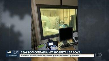 Hospital Saboya, na Zona Sul, não tem tomógrafos para exames - Pacientes e funcionários reclamam que aparelho está quebrado desde o último fim de semana..