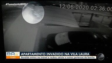 Apartamento é invadido no bairro da Vila Laura, em Salvador - O caso aconteceu na madrugada desta sexta-feira (12).