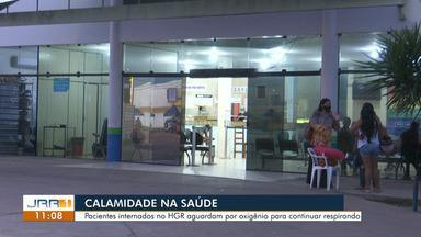 Pacientes reclamam de falta oxigênio no Hospital Geral de Roraima - Pacientes internados no HGR aguardam por oxigênio para continuar respirando