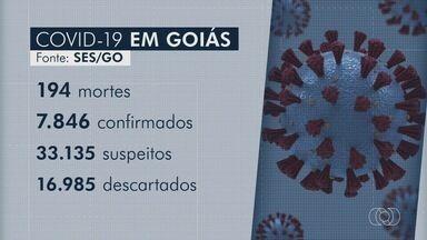 Goiás tem cinco novas mortes por coronavírus em 24 horas - Estado tem 7.846 casos confirmados e 194 mortes por Covid-19. Outros 33 mil são considerados suspeitos.