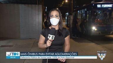 Defensoria Pública de Santos pede que toda frota de ônibus fique disponível - Pedido tem como objetivo evitar aglomeração com a retomada de atividades econômicas.
