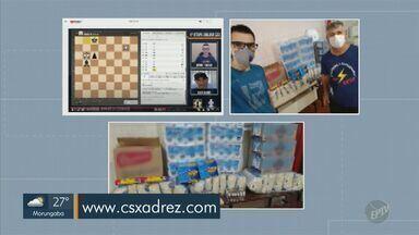 Grupo faz torneio de xadrez virtual para arrecadar doações para famílias carentes - Próxima edição do Circuito Solidário de Xadrez ocorre no domingo (21).